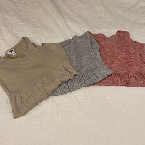 3 Maternity Long Sleeve Tops